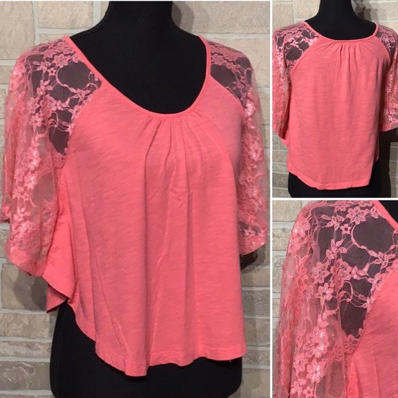 Forever 21 Tops - Forever 21 - Sz S - lace sleeve dolman style crop